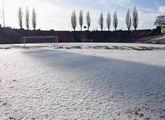 Stadion zimą