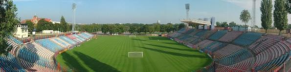Panorama stadionu Pogoni Szczecin